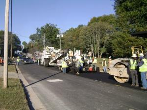 5. Paving Crew Placing HMA